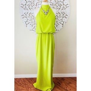 {Chris Benz for Anthropologie} Lime Green Gown
